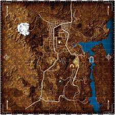 Fallout New Vegas World Map by