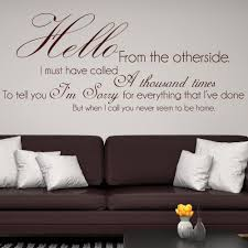song lyric quotes wall stickers iconwallstickers hello from the other side adele song lyrics wall stickers music art decals