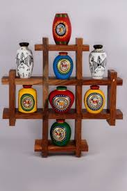 Hand Painted Vase Vase Decorative Wall Hanging Wood And Hand Painted Vases Set