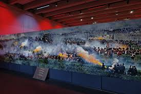 a creative mural for creative minds big picture wide format wide format panoramas honor battle of waterloo