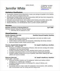 Nurses Resume Format Samples by Nursing Resume 8 Free Samples Resumes Format