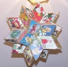 how to make ornaments our of cards