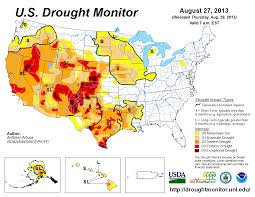 Map Of Us And Puerto Rico august 2013 drought and impact summary