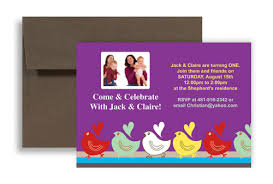 fun colored twin blank birthday invitation 7x5 in horizontal