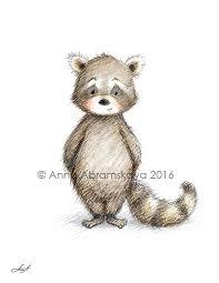 Raccoon Nursery Decor Abramskaya Raccoon Printable Nursery Nursery
