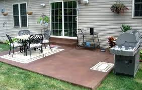 Backyard Concrete Patio Designs Backyard Cement Patio Ideas Au Rus