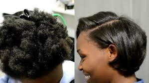 short pressed hairstyles silk blowout on 4c natural hair detailed steps hairtalk youtube