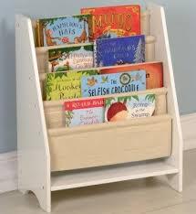 Fabric Sling Bookshelf Kids Sling Bookcase Coffee Natural Kids Sling Bookshelf White