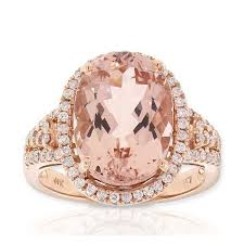 gold and morganite ring gold morganite diamond ring 14k ben bridge jeweler