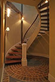 Basement Stairs Design Basement With Spiral Stair And Wall Sconces Basement Stair