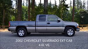 2002 chevrolet silverado ext cab 4 3l v6 youtube
