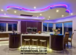 Kitchen Led Lighting Modern False Ceiling Design For Kitchen With Led Lights