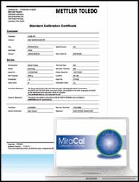 calibration report template introducing standard calibration certificate offering mettler toledo