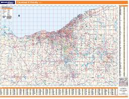 map of cleveland rand mcnally cleveland regional wall map