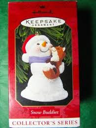 2002 hallmark ornament snow buddies with brown 5 in series