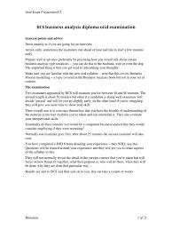 oral exam preparationv2 business analysis intelligence analysis