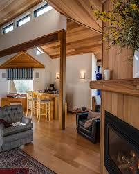 Hardwood Floor Rug Modern Living Room With Metal Fireplace By Harrell Remodeling