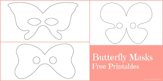 butterfly masks free printables emma owl