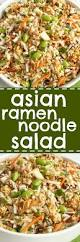 asian ramen noodle salad together as family