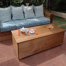 outdoor sofa with storage home dzine garden outdoor storage coffee table
