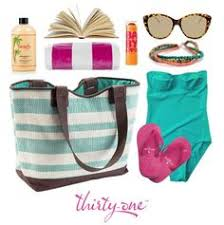 great or pool day thirty one straw tote in