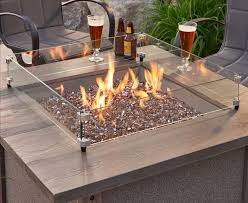 Gas Firepits Square Gas Firepit Wind Guards