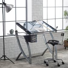 Drafting Table Calgary Studio Designs Futura Advanced Drafting Table With Side Shelf