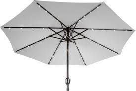 Grey Patio Umbrella by Brayden Studio Gorman 9 U0027 Lighted Umbrella U0026 Reviews Wayfair