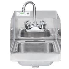 restaurant hand washing sink regency 12 x 16 wall mounted hand sink with gooseneck faucet and