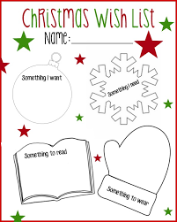 christmas wish list printable christmas wish list want read wear need