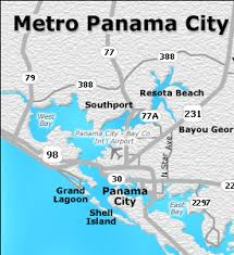 map of panama city panama city metro map