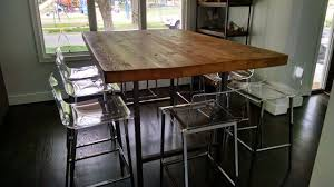 communal table for sale awesome 42 rustic entertainmentbar table bar height table high top