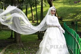 wedding dress indonesia beautiful indonesia woman wearing wedding dress in the park
