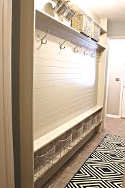 Storage Bench With Hooks by Organizing The Garage With Diy Pegboard Storage Wall Mudroom