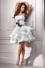 Black And White Wedding Dress Black And White Wedding Dresses 21st Bridal World Wedding