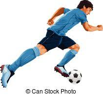 eps vector of vector sketch soccer soccer player in action black