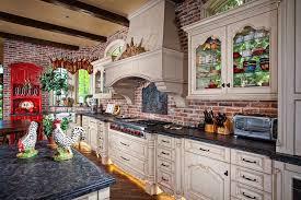 brick tile backsplash kitchen brick backsplash tile kitchen mediterranean with arch windows