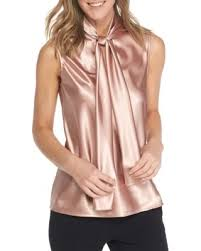 sleeveless tie neck blouse hello 50 nine cameo sleeveless tie neck blouse
