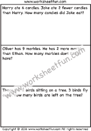 subtraction word problems free printable worksheets u2013 worksheetfun