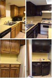 Before And After Kitchen Cabinet Painting Painted Black Kitchen Cabinets Before And After Painting Kitchen