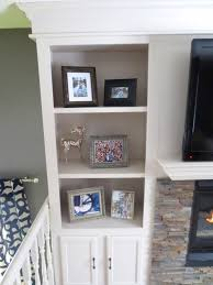 Builtin Bookshelves by Remodelaholic Fireplace Makeover With Built In Shelves