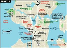 seattle map usa map of seattle its considered to be a costal and port city