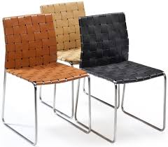 Orange Dining Chair Buy Bond Orange Regular Leather Dining Chair Online