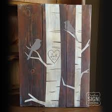 Initials Carved In Tree Initials Heart Carved In Tree Bird In Tree Wood Sign Birch