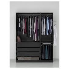 pax wardrobe black brown 150x58x201 cm ikea