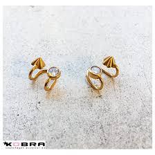 14 carat gold earrings carolyn 14 carat gold plated earring earcuff gold earrings