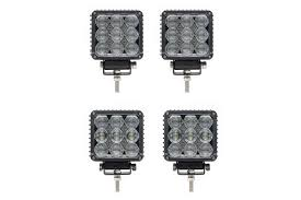 4 pack quad carbine square led work light w qc9fp4 stl