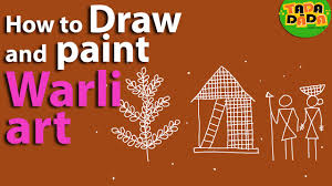 Warli Art Simple Designs Learn How To Draw And Paint Warli Youtube