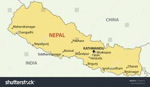 Maps Nepal by Democratic Republic Nepal Vector Map Stock Vector 151346714
