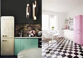 cuisine smeg cuisine en noir et blanc 1 une cuisine r233tro avec le frigo
